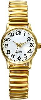 Lancardo Reloj Analógico de Movimiento Cuarzo Original Dial con Grandes Números Árabes Pulsera Electrónica de Moda con Cor...