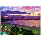 Rompecabezas para adultos y niños Puesta de sol en la playa de Copacabana y Leme en Río de Janeiro Brasil 1000 piezas Rompecabezas de madera