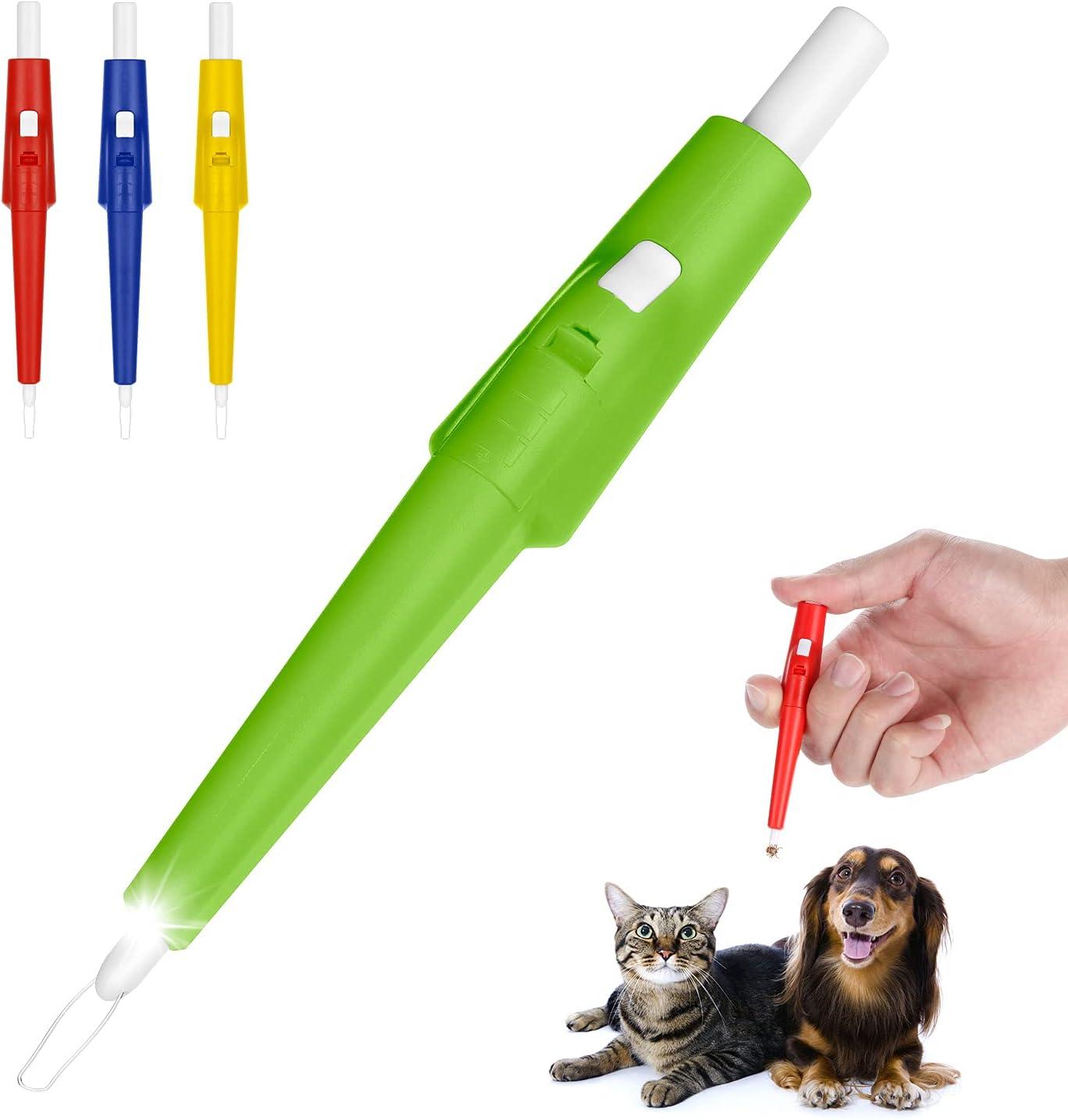 Kasimir Pinzas para garrapatas, Pinzas para garrapatas para Perro/Gato, Profesional Garrapatas Herramienta - Fácil de Eliminar Garrapatas para Mascotas Perros Gatos Caballos Verde