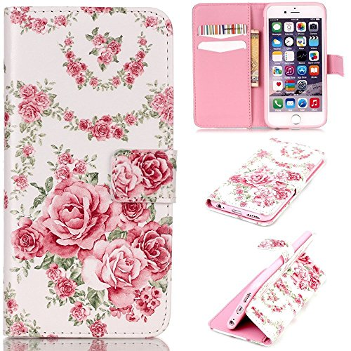 iPhone 7 Plus Case,iPhone 7 Plus Leather Wallet Case,Maoerdo [Peony] Built-in Card Slots Folio Flip Kickstand Feature Magnetic PU Leather Wallet Case Cover for Apple iPhone 7 Plus