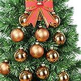 Ecosides Weihnachten Kugeln 12 Stücke 6.7CM Glas Weihnachtskugeln Weihnachtsdeko mit Aufhänger...