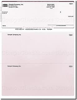 Computer Checks - 250 Printed Laser Computer Voucher Checks - Burgundy Pinstripe - Compatible for QuickBooks
