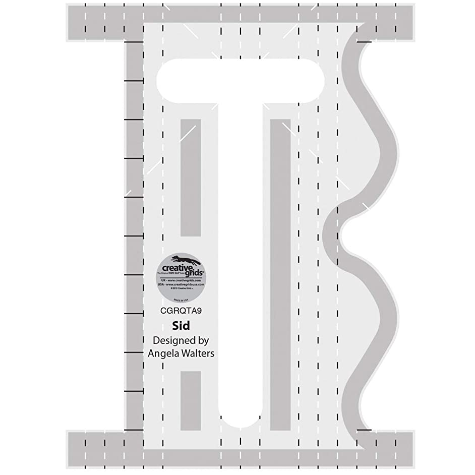 Creative Grids Machine Quilting Tool Ruler Template - Sid