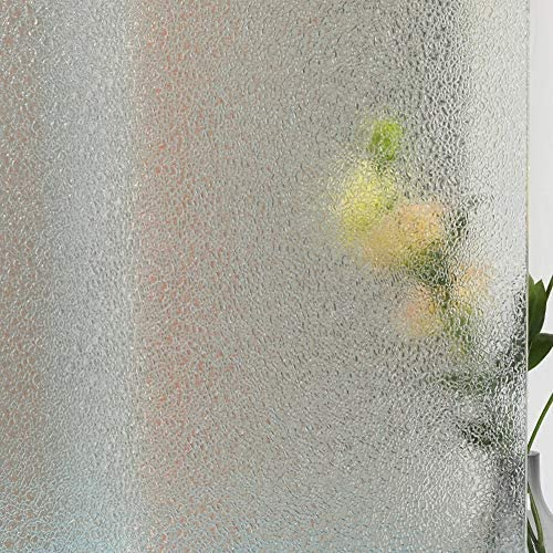 Mikomer Non Adhesive Window Film Privacy Glass Film Broken Glass Pattern Static Cling UV Blocking product image