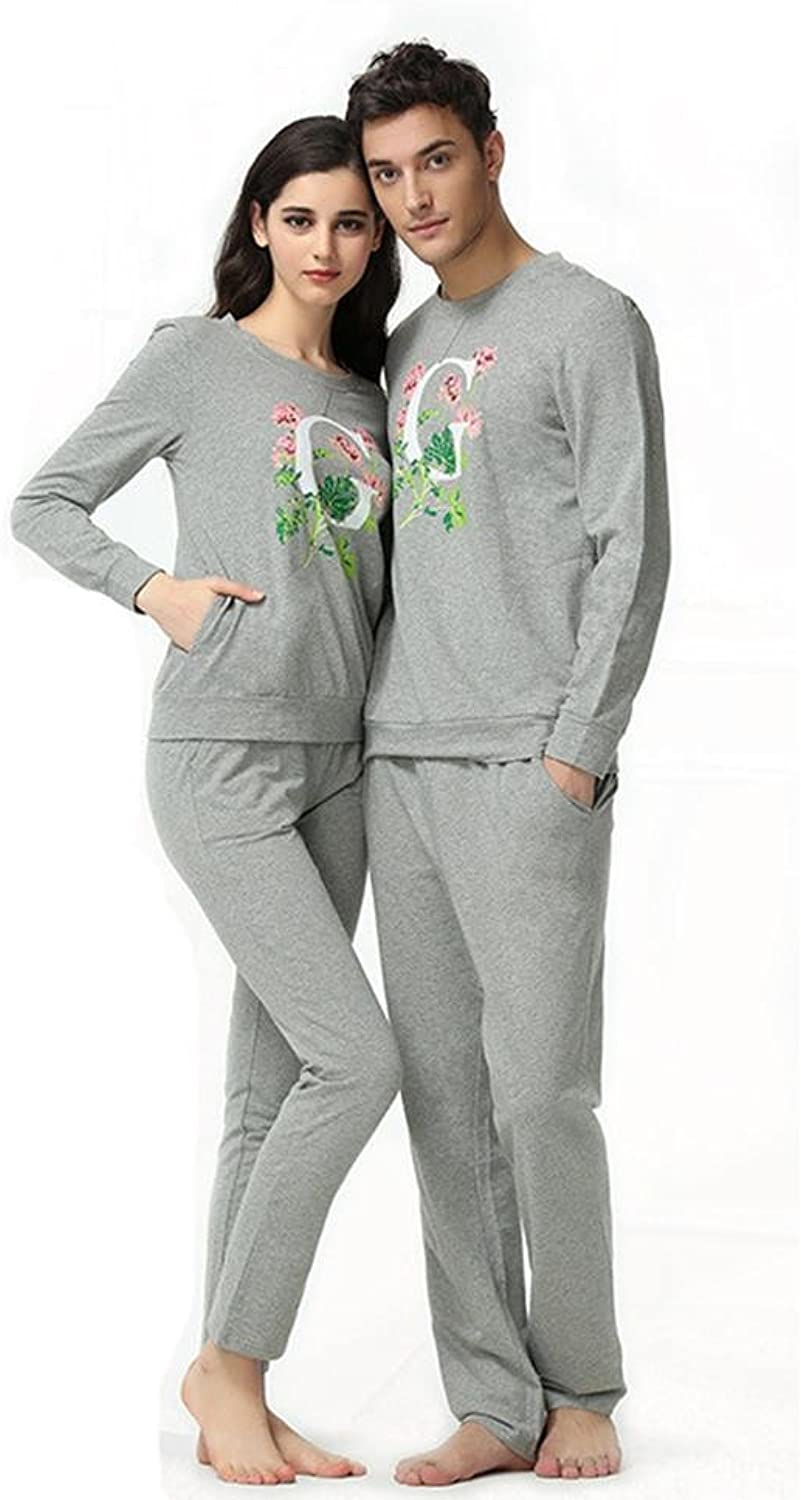 DMMSS Couples Spring And Autumn Cotton Bathrobe Suit Casual Long  Sleeved Pajamas Set Can Be Worn Home Service Sets
