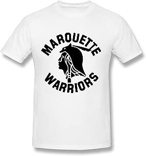 Men's Marquette University Mascot O-neck Tee Size M White