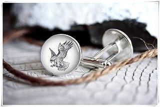 Gemelos con diseño de águila de la familia We are Forever Family, gemelos personalizados, regalos para hombres, gemelos de...
