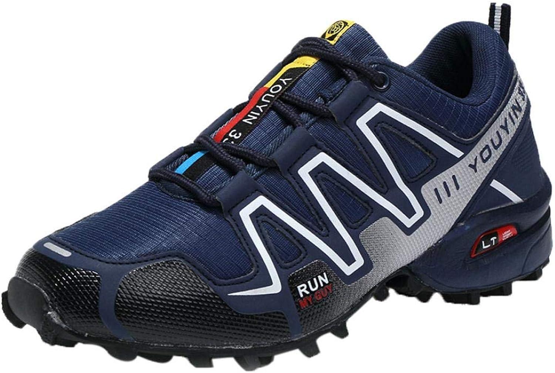 Wallhewb Caopixx Sneakers for Men Lightweight Running shoes Cross Trainer Athletic Sports Sneakers for Training Joker Highten Increasing Handsome Skinny Leg Length Dark bluee US Size 8 shoes