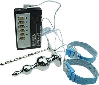 KINXOR Accesorios Kinxor E-Stim Anillos Electro Conductores Ajustables Fisioterapia Enchufe de Metal con Cable Estimulador Eléctrico Masaje para Hombres