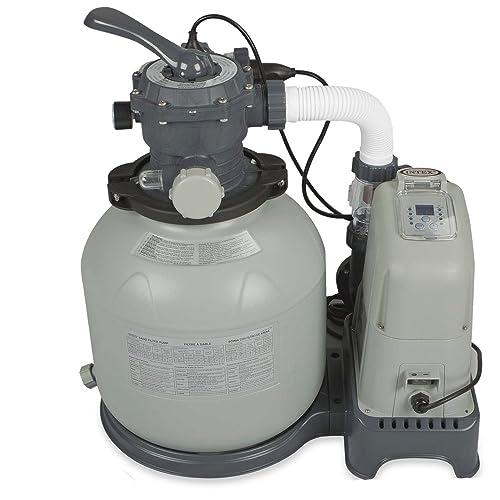 Intex Combo - Depuradora de arena y cloración salina, 32.200 l