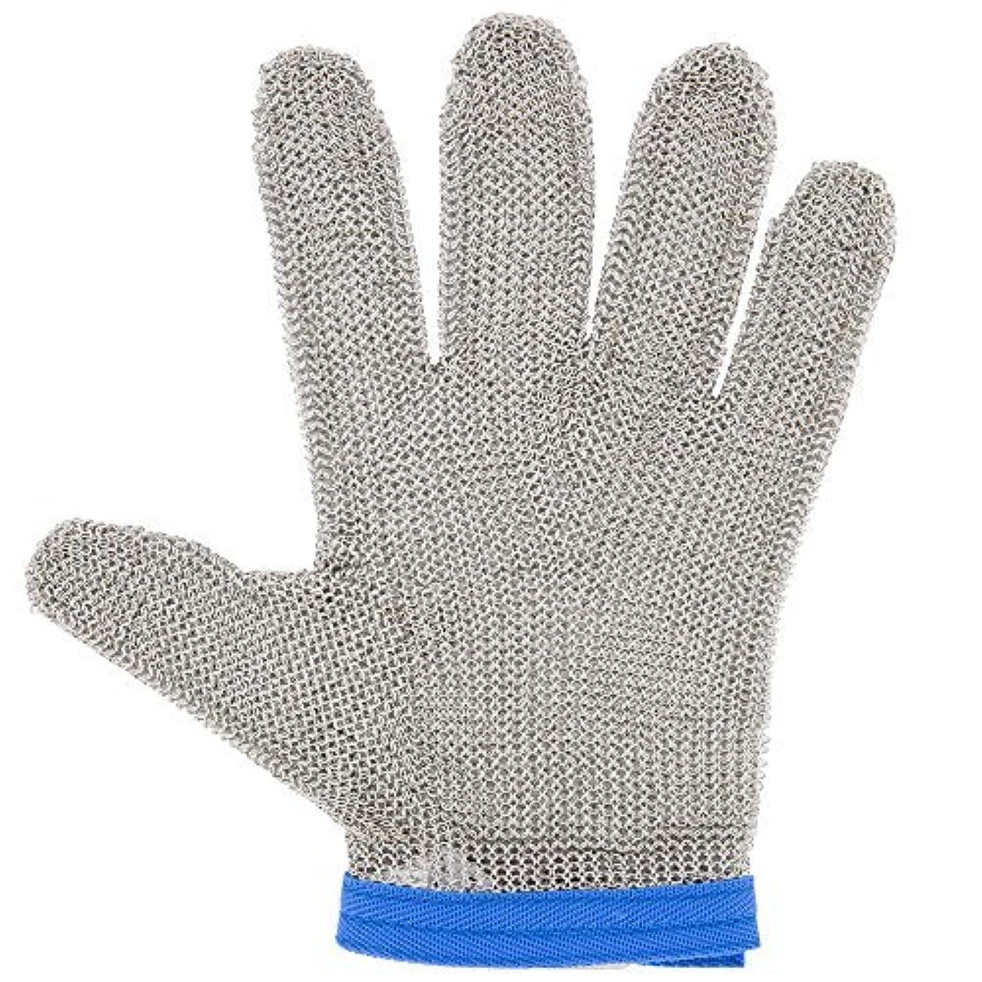 食物杭インタビューSan Jamar mga515lスチールメッシュ5指cut-resistant手袋、Large by San Jamar