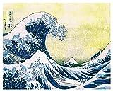 Culturenik Katsushika Hokusai The Great Wave Japanese Fine Art Poster Print, Unframed 16x20