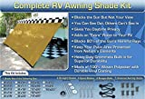 RV Awning Shade Net Complete Kit 8x10 (Beige)