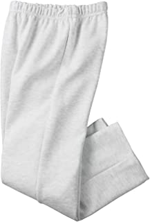 Adult Soft and Cozy Classic Style Open Bottom Sweatpants in 8 Colors White