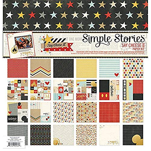 Simple Stories Paquete de Papel x Pulgadas 12 kg-Say Cheese II, 12 by 12""