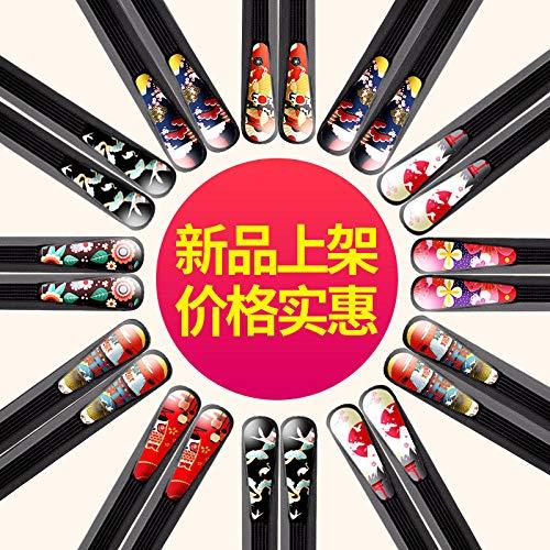 qweasd Baguettes en Alliage Les Baguettes de Style Japonais Peuvent être stérilisées sans déformation et la personnalité créatrice moisie Baguettes Pointues-Clover Baguettes à Ongles