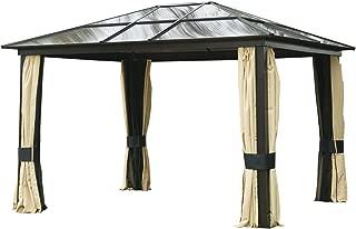 Outsunny Carpa 3x3.6m Cenador Estructura de Aluminio 4
