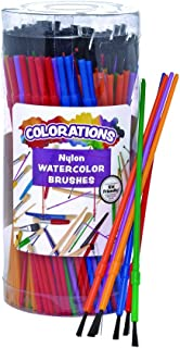 Colorations Paint Brushes, Set of 144, 3 Widths, Nylon Bristles, Classroom, Painting, Art, Classroom Supplies, Art Supplies, School Supplies, Kids, Projects, Crafts, Groups, Watercolor