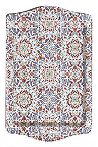 BOHORIA® Premium Design Serviertablett - Dekorative Servierplatten für Glas, Tassen, Schälchen auf ihrem Holz-, Glas- oder Stein-Esstisch (Marrakech)