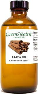 Cinnamon Cassia - 8 fl oz (237 ml) Glass Bottle w/Cap - 100% Pure Essential Oil - GreenHealth