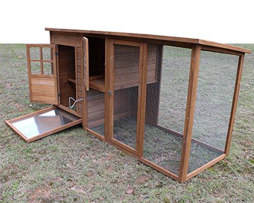 """Hühnerstall Hühnerhaus Chickenhouse Nr. 07 """"Gockelstolz"""" mit Eierbox und Freilauf - 5"""