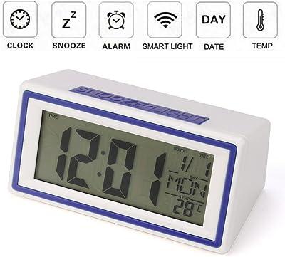 STRIR Reloj despertador digital,Snooze / Light LCD Digital Backlight Alarm Clock,Tiempo de