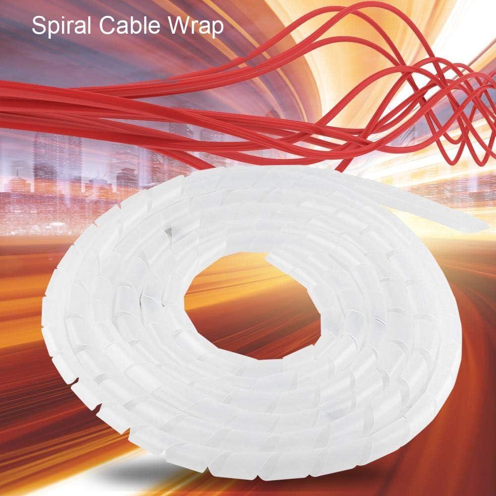 Flexibler Spiralkabelwickel f/ür Heimkino White /φ16mm biegbarer Spiralkabelwickel Spiralwickelband Spiraldraht-Organizer LZKW Kabelmanagement-Werkzeug Spiraldrahtbindung