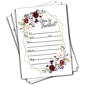 bridal shower decoration ideas homemade.htm amazon com 50 elegant floral geometric elegant frame invitation  elegant floral geometric elegant frame