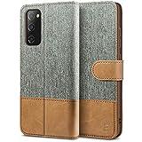 BEZ Funda Samsung S20 FE, Carcasa para Samsung Galaxy S20 FE 5G Libro de Cuero con Tapas y Cartera, Cover Protectora con Ranura para Tarjetas y Billetera, Cierre Magnético, Gris