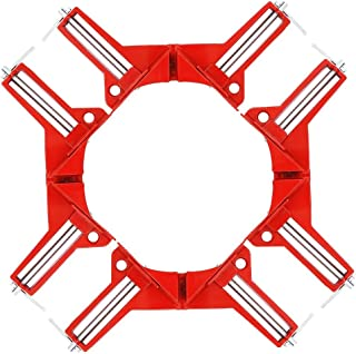 Right Angle Clamp - 90 Degree Clamp Miter Picture Frame Clamp for Woodworking Kit Framing Vise - 4pcs Corner Clamp