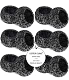 Baumwolle-Klinik Glas Serviettenringe 12 Stück Schwarz serviettenringe für hochzeit, weihnachten, täglicher Gebrauch, Abendessen, Tischgesellschaft Dekor