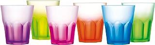 Luminarc Techno Colors Glass Drinkware Set, 6 Pieces, 300 ml - Multi Color