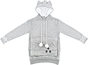 NeuFashion Pet Cat Dog Kangaroo Pouch Hoodies Pullover Sweater Pocket Hoodie Cat Dog Holder Carrier Sweatshirt