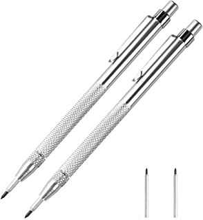 2 Pack Tungsten Carbide Scriber with Magnet - Aluminum Etching Engraving Pen with Clip for Glass/Ceramics/Hardened Steel by Fabcell