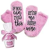 Wein Socken mit lustigen Worten,If You Can Read This-Funny Zubehör für sie, Geschenk für Frau,Geschenke für Frauen (1)