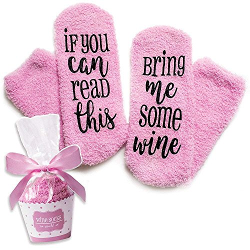 Wein Socken mit lustigen Worten,If You Can Read This-Funny Zubehör für sie, Geschenk für Frau,Geschenke für Frauen (1)