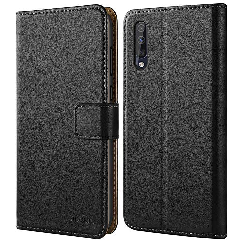 HOOMIL Samsung A30S Case, Premium Galaxy A50 Leather Folio Case, Flip Book Style Wallet Cover with TPU Shockproof, Stand, Card Slots and Cash Pocket for Samsung Galaxy A30S/A50/A50S (Black)