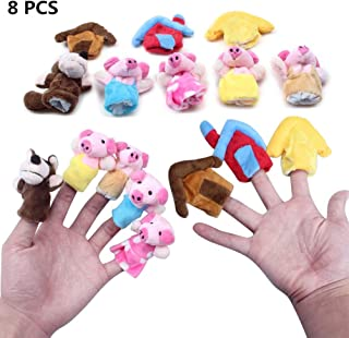 Finger Puppets Educational Hand Toy Kids Story Three Little Pigs Finger Dolls SG