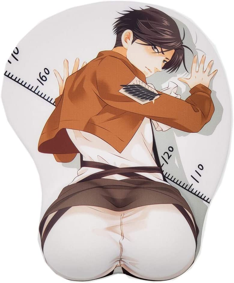 Attack on Cheap sale Titan Levi Anime Mouse Rest 3D Wrist Max 86% OFF with Gaming Pads