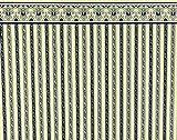 Melody Jane Maison de Poupées Bleu Crème Régence Bande Miniature Impression Papier Peint 1:12 Échelle