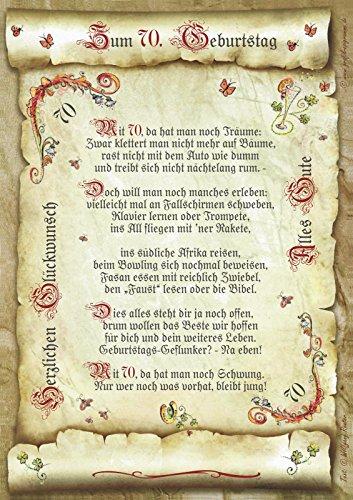 Die Staffelei Geschenk 70. Geburtstag Gedicht Präsent Jubiläum