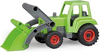 Lena 4006942792306 4213 EcoActive traktor med frontlastare, nyttofordon ca 35 cm, robust grön traktor med spade, naturlig ...