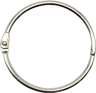 KTOJOY 2 Inch (15 Pack) Loose Leaf Binder Rings, Nickel Plated Steel Binder Rings,Keychain Key Rings, Metal Book Rings,Silver, for School, Home, or Office