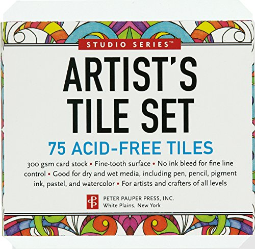 Studio Series Artist's Tiles: White (75 pack)