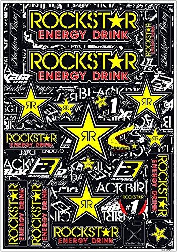 MX Enduro Aufkleber Sponsoren Sticker vorgestanzt Rockstar Energy