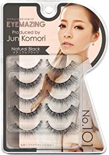 GC LABO Eyemazing Jun Komori False Eyelashes, No. 101, 5 Count