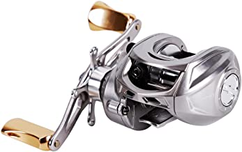 Sougayilang Baitcasting Reel, 7.2:1 Gear Ratio Super Smooth Power, 12 + 1 Shielded Ball Bearings, 18LB Super Drag, Anti-Corrosion Black Silvery Fishing Reel