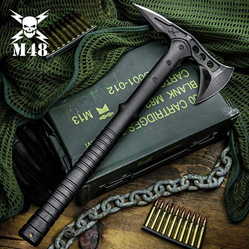 M48 Tactical Tomahawk Axe with Snap On Sheath - Hawk Axe
