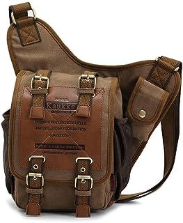APG Crossbody Bag Canvas Leather Shoulder Bag Military Messenger Bag for School, Travel and Hiking Satchel(RANDOMCOLOR)