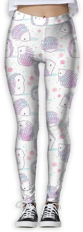 Funny Hedgehog Women's Power Flex Gym Yoga Pants Workout Tights Leggings Trouser